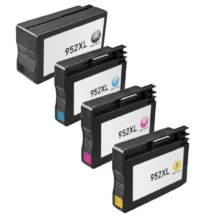 HP 952XL High Yield 4-Pack Ink Cartridges (All High Yield)